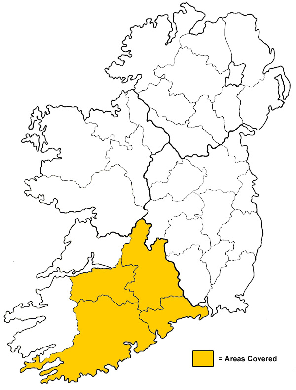 Apollo Screed covers counties: Cork, Limerick, Tipperary & Waterford